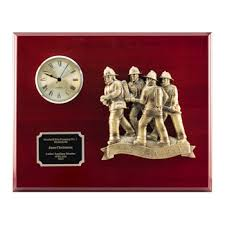 retirement plaques firefighter awards plaques personalized firefighter clocks