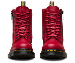 ladies leather biker boots pascal w zip aunt sally women u0027s boots official dr martens store