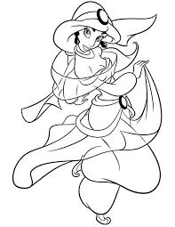 cartoon princess jasmine coloring netart