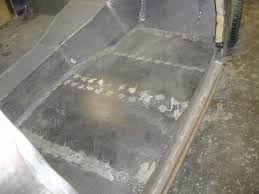 thicknes of sheet metal for floor pan the h a m b