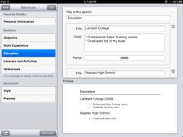 Resume Fill In The Blank Review Create A Basic Resume With Resume Designer For Ios Macworld
