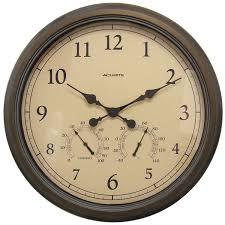amazon com acurite 01061 24 inch patina indoor outdoor wall clock