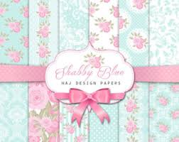 shabby chic wrapping paper shabby chic digital paper falling in pink