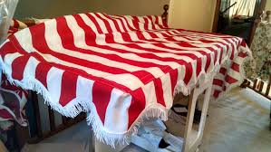 Red And White Striped Awning My Work Tin Can Awnings