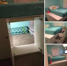 Stolmen Bed Hack Ikea Hack Diy Raised Bed Using 4 Kallax Expedit Shelving Units