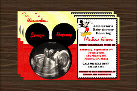 mickey mouse baby shower invitations mickey mouse baby shower invitations best invitations card ideas