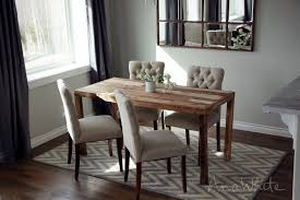Free Wooden Dining Table Plans by Ana White Emmerson Parsons Table Modern Reclaimed Wood Dining