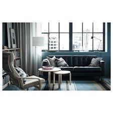 landskrona three seat sofa grann bomstad black wood ikea