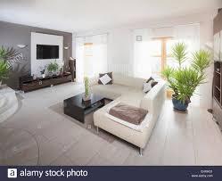 German Living Room Furniture Empty Sofa In A Modern Living Room Munich Bavaria Germany Stock