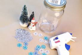 diy how to make jar snow globes simplemost