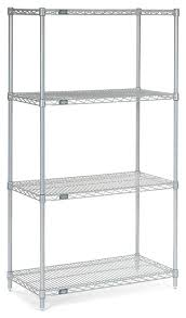 4 Tier Shelving Unit by Nexel 4 Tier Wire Shelving Unit Chrome 36