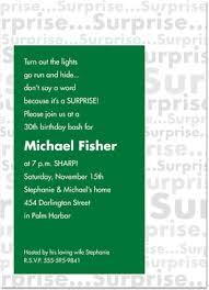 big green surprise birthday party invitations glee prints