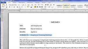 What Is A Modified Block Style Letter by Creating A Block Style Business Memo Youtube