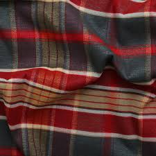 Curtain Upholstery Fabrics Designer Discount Linen Look Tartan Check Plaid Curtain Upholstery