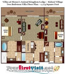 Two Bedroom Floor Plan by Review Kidani Village At Disney U0027s Animal Kingdom Villas