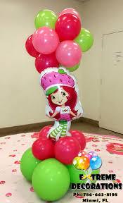 strawberry shortcake topiary balloon centerpiece birthday party