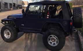 navy blue jeep wrangler 2 door sold u002706 jeep wrangler rubicon 1 tons 68k miles 6 spd swap