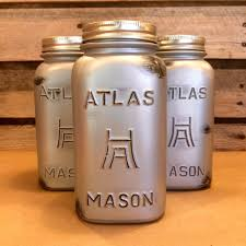 rustic silver mason jar canister set industrial mason jar kitchen