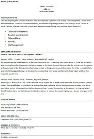 food service aide resume samples sample restaurant top 8