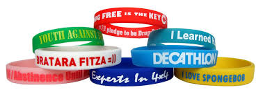 silicone wrist bracelet images Custom printed silicone wristband the best promotional products jpg