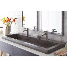 native trails nsl4819 trough 4819 nativestone drop in bath sink