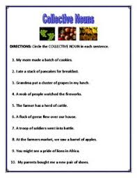 collective noun worksheets collective nouns worksheet nouns