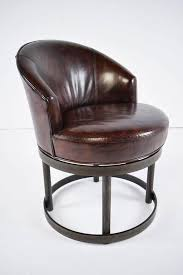 Antique Leather Swivel Chair Pair Of Vintage Leather Swivel Chairs For Sale At 1stdibs