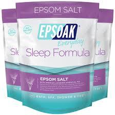 amazon com epsoak everyday epsom salts 2 lbs detox cleanse epsoak sleep formula epsom salt 6 lbs lavender bath soak relax sleep
