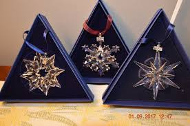 swarovski lot of 13 annual snowflake ornaments nib collectibles