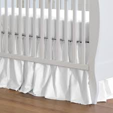 Crib Bed Skirt Measurements Solid White Crib Skirt Gathered Carousel Designs