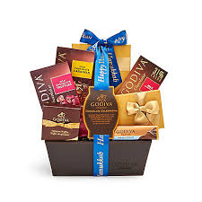 hanukkah gift baskets happy hanukkah chocolate celebration basket royal blue ribbon