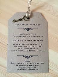 wedding luggage tags wedding invitation presence is key vintage luggage tag label kraft