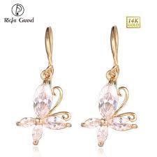 gold jhumka hoop earrings fashion women larger gram steunk hoop earring big twisted