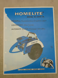vintage homelite gas circular saw spec sheet sales brochure model