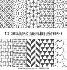 set eight seamless patterns modern stylish stock vector 507024085