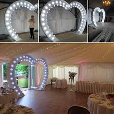 light up shape arch with marquee fairground bulbs 2 4m
