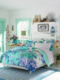 bedroom pretty teenage bedroom with blue flower bed sheet