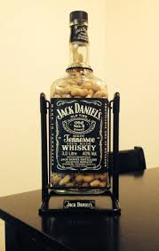 3 liter jack daniels bottle filled with peanuts for my brother in