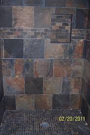 slate tile bathroom ideas slate wall in shower slate bathroom staked slate wall shower