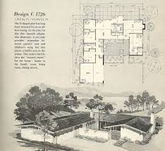 floor plan vintage house plans 1960s spanish style and mid century