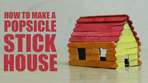 how to make a popsicle stick house youtube