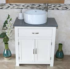 Bathroom Vanity Units With Basin by Bathroom Vanity Unit Off White Cream Painted Grey Quartz With