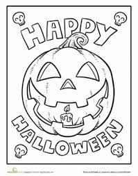 color happy halloween worksheet education