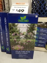 wilson and fisher solar lights solar light 6 planter metal garden screen 49 00 and more gardening