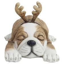 sleeping puppy garden ornaments 2 designs