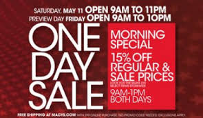 macy s one day sale macy s one day sale coupon mummy deals