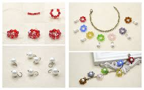 diy beaded flower bracelet images Diy beaded flower charm bracelet fashionornaments jpg
