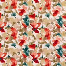Teal And Red Curtains Teal Red Floral Velvet Upholstery Fabric Teal Velvet Floral