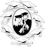 Friends Across America - Free Printable Coloring Page - Graduation ... friendsacrossamerica.com