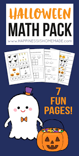 Halloween Math Printable by Kindergarten Halloween Math Pack Happiness Is Homemade